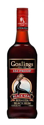 Gosling's 151 proof Black Seal Rum 75,5% 70 cl.