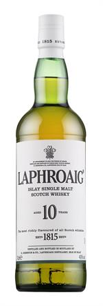 Laphroaig 10 års single malt, 0,7 L, 40%